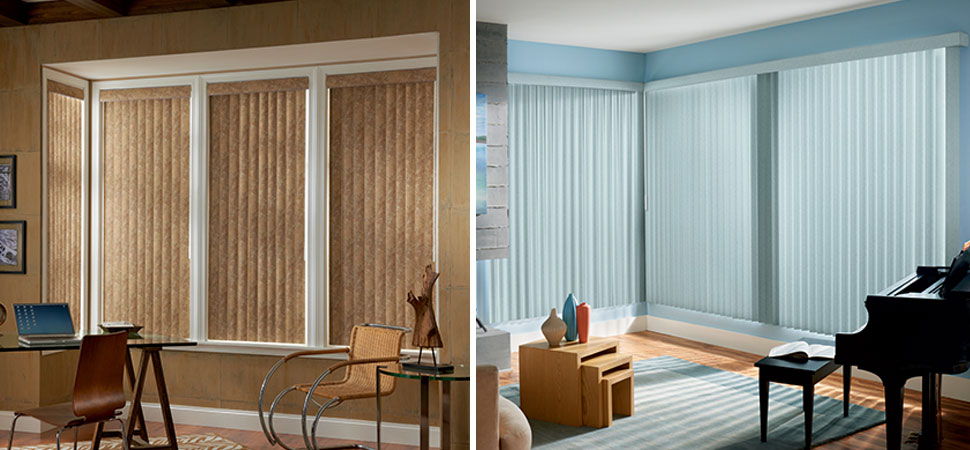 graber vertical blinds Graber vinyl light blue Vertical Blinds brown fabric vertical blinds light filtering