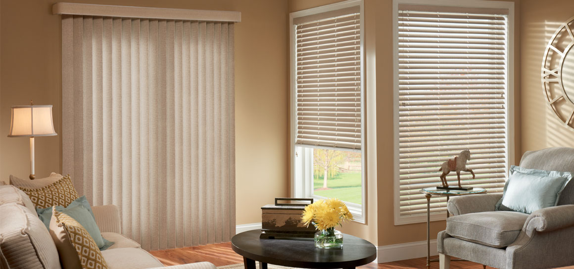 Graber vertical Blinds on Door