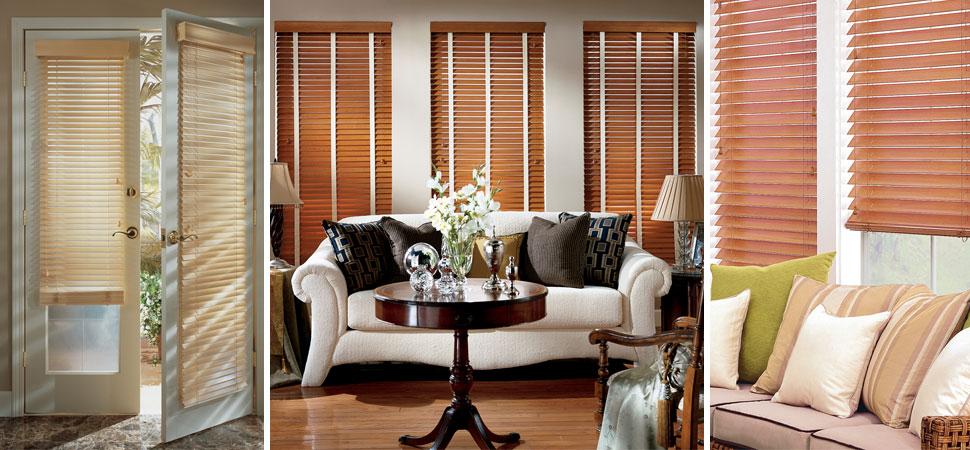 faux wood blinds Parkland Wood Blinds french door wood blinds living room wood valance