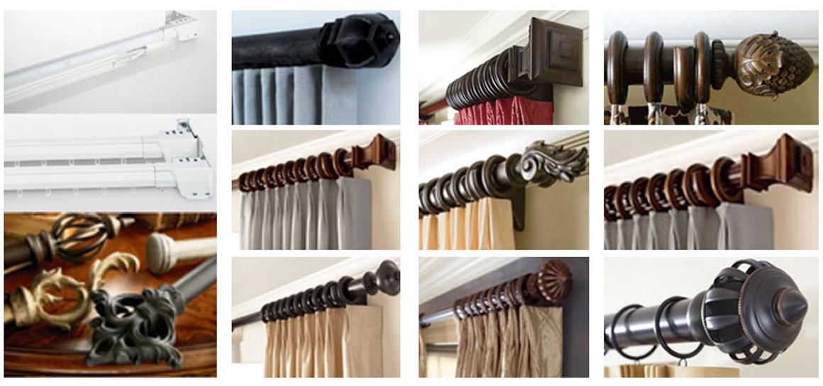 Custom Curtain Rods I Drapery Hardware I Finials -