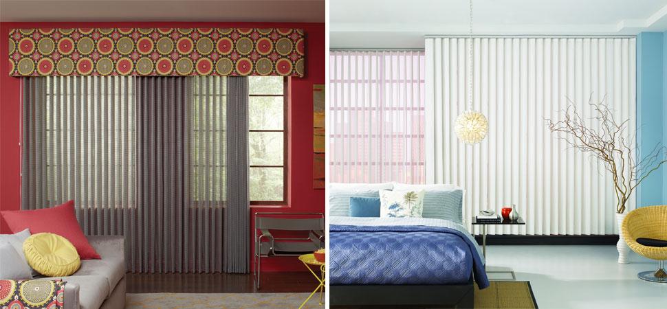 custom vertical blinds sheer visions Lafayette white Sheer Vision Vertical Blinds bedroom valance