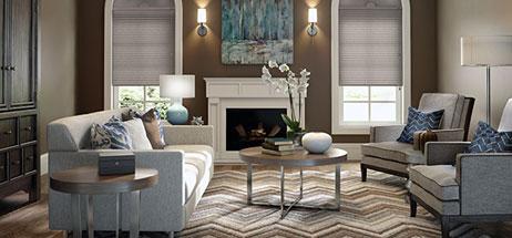 living room decor ideas grey blinds
